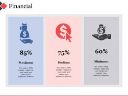 Financial Icons With Percentage Ppt File Background Images