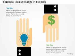 Financial Idea Exchange In Business Flat Powerpoint Design