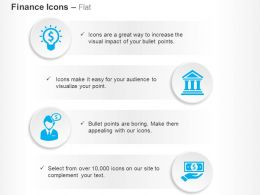 Financial Idea Generation Banking Solutions Ppt Icons Graphics
