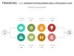 Financial Idea Generation Business Deal Process Flow Powerpoint Slides