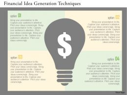 Financial Idea Generation Techniques Flat Powerpoint Design