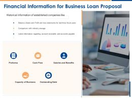 Financial Information For Business Loan Proposal Ppt Powerpoint Presentation Visual Aids Show