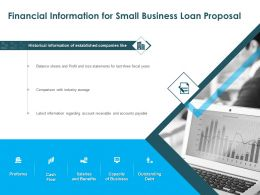 Financial Information For Small Business Loan Proposal Ppt Powerpoint Presentation Diagrams