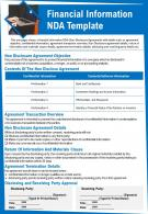 Financial Information NDA Template Presentation Report Infographic PPT PDF Document