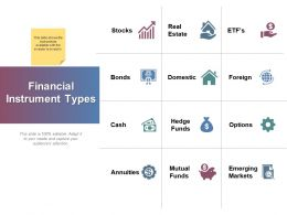 Financial Instrument Types Ppt Powerpoint Presentation File Graphics