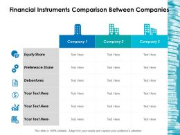 Financial Instruments Comparison Between Companies Ppt Icon Display
