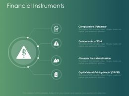 Financial Instruments Slide Comparative Statement Ppt Powerpoint Presentation Layouts Master