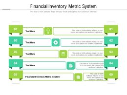 Financial Inventory Metric System Ppt Powerpoint Presentation Professional Slides Cpb