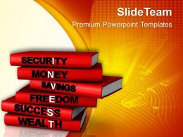 Financial Investment Concept On Stack Of Books PowerPoint Templates PPT Themes And Graphics 0513