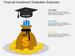 Financial Investment Graduation Expanses Flat Powerpoint Design