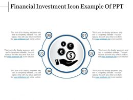 Financial Investment Icon Example Of Ppt