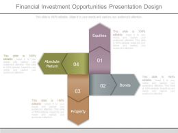 Financial Investment Opportunities Presentation Design