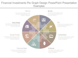 Financial Investments Pie Graph Design Powerpoint Presentation Examples