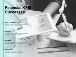 Financial KPIS Successes Ppt Powerpoint Presentation Portfolio Deck Cpb