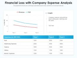 Financial Loss With Company Expense Analysis