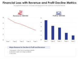 Financial Loss With Revenue And Profit Decline Metrics