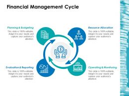 Financial Management Cycle Ppt Inspiration Smartart
