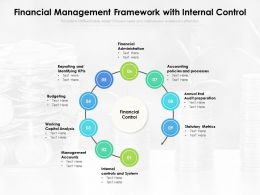 Financial Management Framework With Internal Control
