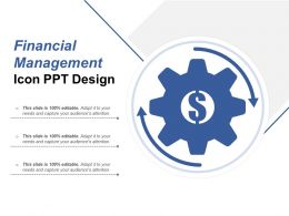 Financial Management Icon Ppt Design