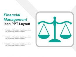Financial Management Icon Ppt Layout