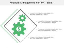 Financial Management Icon Ppt Slide Presentation