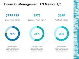 Financial Management Kpi Metrics 1 3 Ppt Layouts Backgrounds
