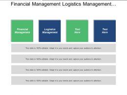 Financial Management Logistics Management Control Structure Strategic Plans Cpb