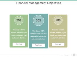 Financial Management Objectives Powerpoint Slide Backgrounds