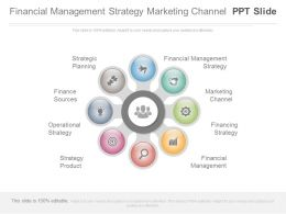 Financial Management Strategy Marketing Channel Ppt Slide