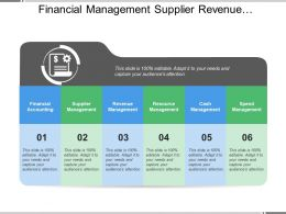 Financial Management Supplier Revenue Resource Cash Spend