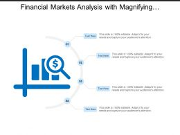 Financial Markets Analysis With Magnifying Glass Showing Dollar Sign