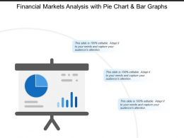 Financial Markets Analysis With Pie Chart And Bar Graphs