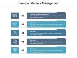 Financial Markets Management Ppt Powerpoint Presentation Show Styles Cpb