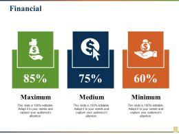 Financial Maximum Medium Minimum Ppt File Templates
