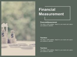 Financial Measurement Ppt Powerpoint Presentation Summary Icons Cpb