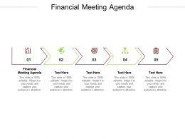 Financial Meeting Agenda Ppt Powerpoint Presentation Portfolio Tips Cpb