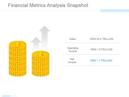 Financial Metrics Analysis Snapshot Powerpoint Slide Show