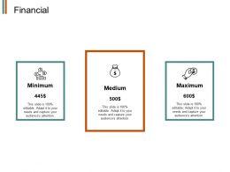 Financial Minimum J124 Ppt Powerpoint Presentation File Deck