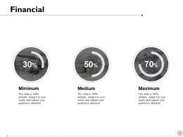 Financial Minimum Maximum Strategy K246 Ppt Powerpoint Presentation Ideas Deck