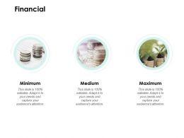 Financial Minimum Medium E239 Ppt Powerpoint Presentation Show Model