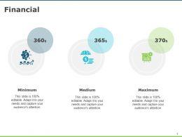 Financial Minimum Medium Maximum D63 Ppt Powerpoint Presentation Infographics Diagrams