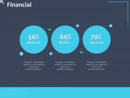 Financial Minimum Medium Maximum N243 Ppt Powerpoint Presentation Outline