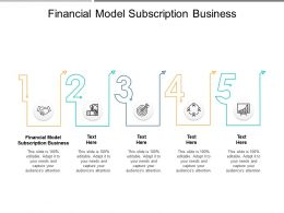 Financial Model Subscription Business Ppt Powerpoint Presentation Pictures Slide Cpb