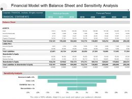 Financial Model With Balance Sheet And Sensitivity Analysis