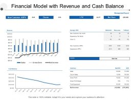 Financial Model With Revenue And Cash Balance