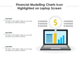 Financial Modelling Charts Icon Highlighted On Laptop Screen