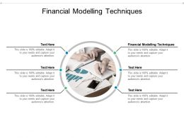 Financial Modelling Techniques Ppt Powerpoint Presentation Ideas Slides Cpb