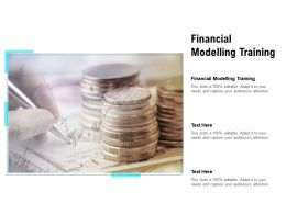 Financial Modelling Training Ppt Powerpoint Presentation Ideas Gallery Cpb