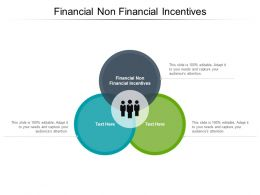 Financial Non Financial Incentives Ppt Powerpoint Presentation Model Files Cpb