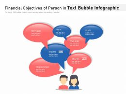 Financial Objectives Of Person In Text Bubble Infographic